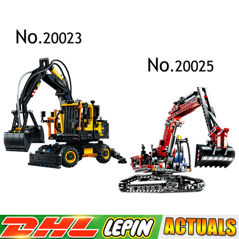 20023 20025 Technic Series Excavator toy Model Building Blocks Bricks Compatible LegoINGly 42053 8294 toys kids gifts lepin 20025 760pcs technic the red engineering excavator set building blocks bricks model toys christmas gifts compatible 8294