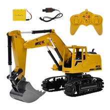 1:24 8CH Simulation RC excavator toys RC truck toy RC Engineering car tractor Crawler Digger Model brinquedos(China)