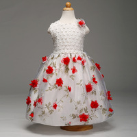 Formal Kids Gifts Pageant Dresses Wedding And Party Wear European Baby Children Grils Dress Fashion High
