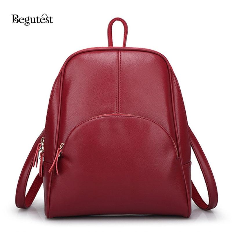Begutest korean Style Backpack Women Simple Solid Bag Casual Travel Bag Women Backpack Style Schoolbag Backpacks