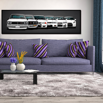 Canvas Painting HD Print Modular Artwork Modern 5 Pieces Nissan Skyline Gtr Car Pictures Bedside Home Decorative Wall Art Poster canvas painting modular wall art frame home decor 5 pieces new york city night scene pictures hd print brooklyn bridge poster