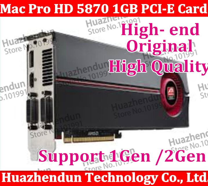 Original High-End o for Mac Pro ATI HD5870 HD 5870 1GB mac 5870 than HD4870  MAC GTX285 PCI-E video graphic card for mac pro original gpu veineda graphics cards hd6450 2gb ddr3 hdmi graphic video card pci express for ati radeon gaming