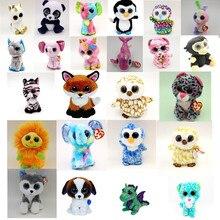 "TY Beanie Boos Cute Slick Fox Plush Toys 6"" 15cm Ty Plush Animals Big Eyes Eyed Stuffed Animal Soft Toys for Kids Gifts"