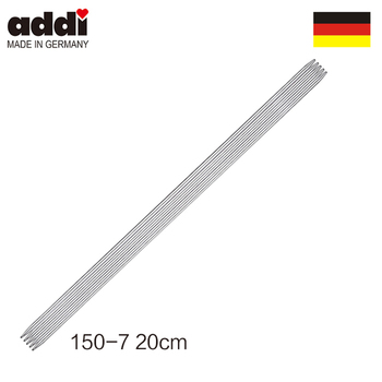 Addi 150-7-20cm Double Pointed Steel Needles Smooth-grey image