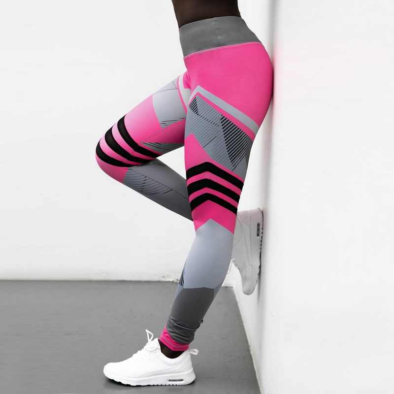5ed8176d4d5 ... 2019 Hot Striped Running Pants Women Push Up Sport Legging Fitness  Athletic Tights Seamless Gym Training ...