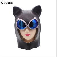Hot New Sexy Cat Masks Halloween Party Mask for Women Girls Latex Black Crystal Masquerade Masks for Nightclub Party Ornaments