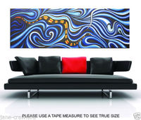 MADE DIRECT FROM ARTIST SNAKE DESIGN OIL PAINTING 200CM+