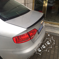For Audi A4 B8 ABS Primer Rear Trunk Luggage Compartment Spoiler Car Wing 2009 2010 2011 2012