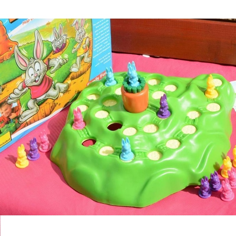 Rabbit Cross Country Competition Children's Puzzle Game Parenting Intelligence Board Game Family Party Game image