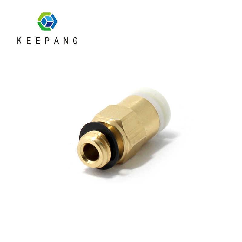 1 pc M6 hilo boquilla neumática conectores con 4*2mm filamento de tubo de PTFE remoto extrusora Reprap recto piezas de impresora Air 3D
