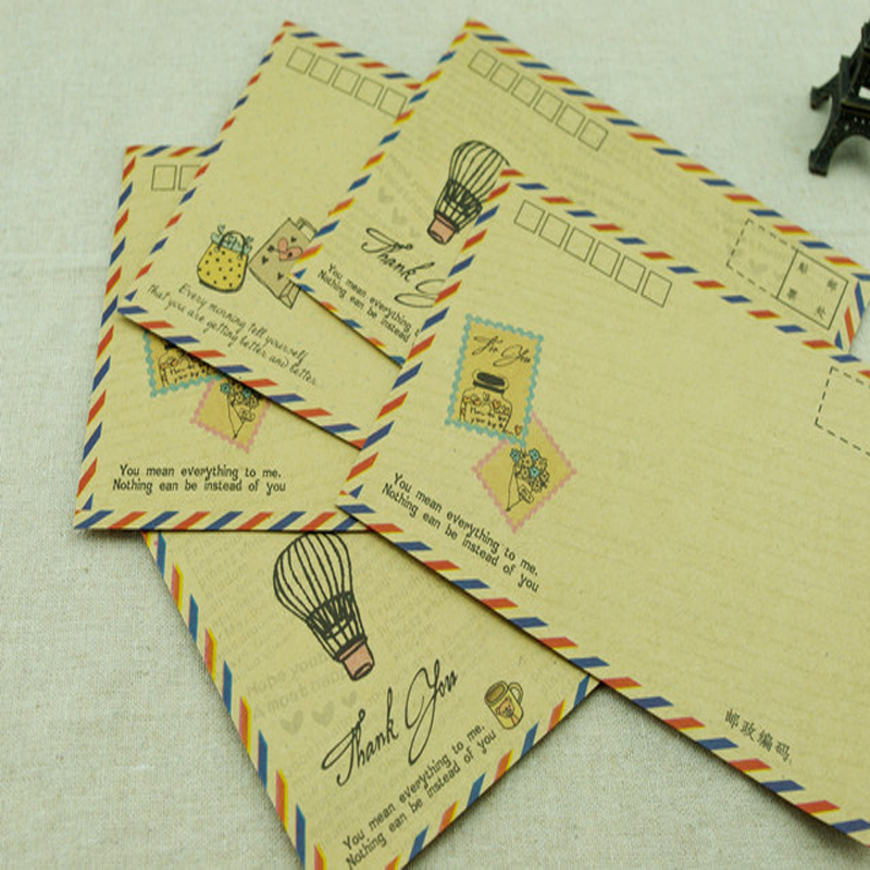 B6 Standard Air Envelope Can Be Mailed By Post Office Supervisor Vintage Hand-painted Wind Kraft Envelope 80pcs/lot