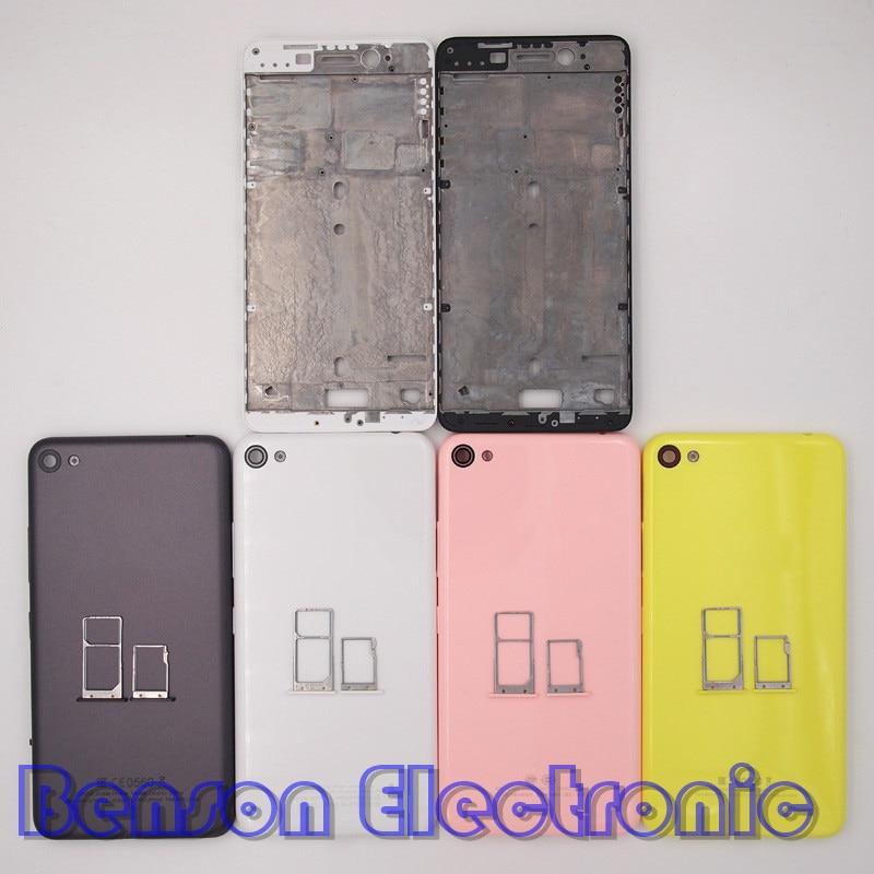 imágenes para BaanSam Nuevo Marco Frontal Trasera de Batería Cubierta de la Bandeja de Tarjeta de SIM Micro Bandeja de Tarjeta SD Para Lenovo S60 S60-T/W/Un Caso de Vivienda Con Botones