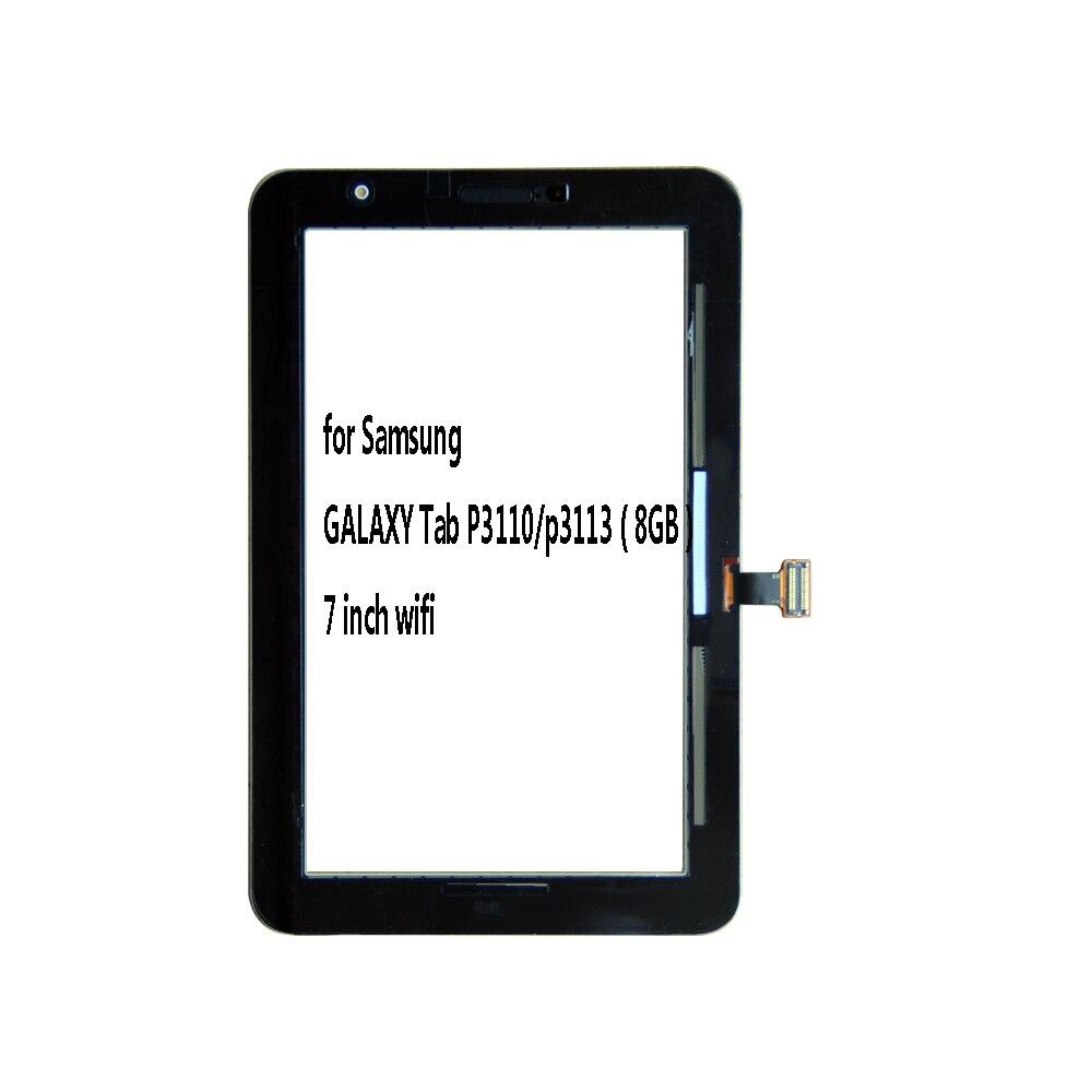 2 7 ''polegada para Samsung Galaxy Tab 7.0 P3100 P3110 LCD Tablet tela de Toque Digitador Lente de Vidro do painel Sensor painel + ferramentas
