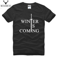 Wholesale HOT Brand Arder T Shirt Men Luxury Game Of Thrones Valar Morghulis Letter America Drama