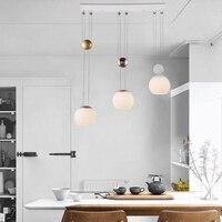 Glass Pendant Light Modern Led Lifting Lamp Living Room Bedroom Pendant Lamp Bar Restaurant Lifting Up And Down Pendant Lights