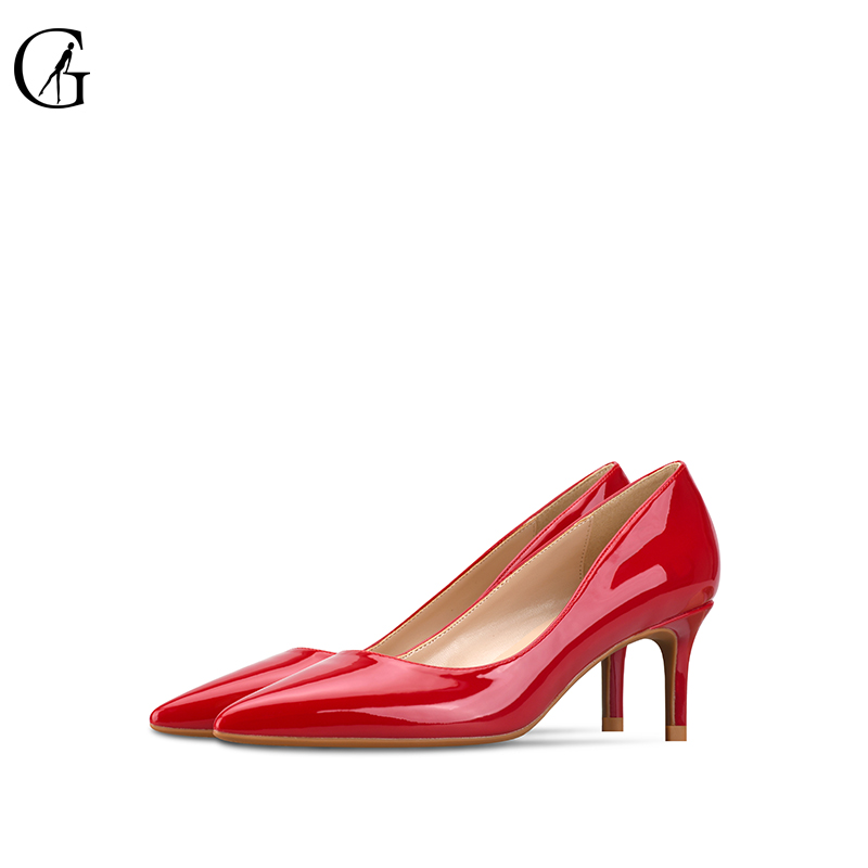 GOXEOU 2018 High Heels Shoes Women Pumps 6cm Woman Shoes Sexy Pointed Toe Wedding Party Shoes Stilettos Heels Stiletto Plus Siz цена
