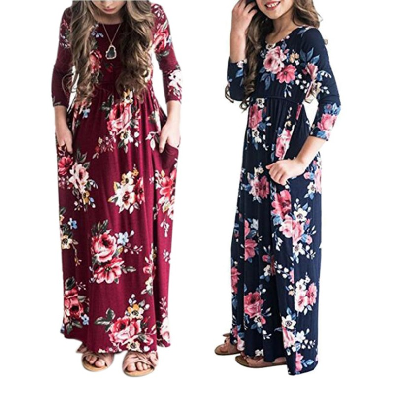 Ny mode sommar 8-11T Hot Sale Baby Girls Söt Klänning Barn Skriv ut ... 742c9666e27e1