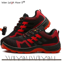 Size 38-45 Men Steel Toe Safety Work Shoes Breathable men shoe sneakers Anti-piercing anti-slip wearable Protection Footwear