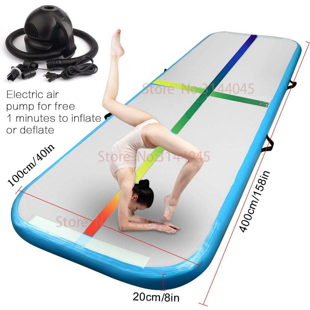 Air track 5m Inflatable Cheap Gymnastics Mattress rainbow Gym Tumble Airtrack Floor Tumbling Air Track For Sale Free Shipping