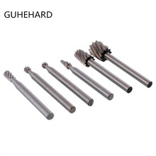 6Pcs/kit Abrasive High Speed Steel Rotary File Engrave Wood Carving Milling Tool цена