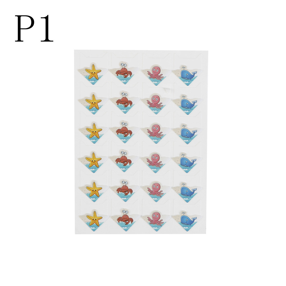 1 Sheets Paper Cartoon Animals Corner Stickers For Photo Albums Scrapbooking Frame Decoration Fancy Colours
