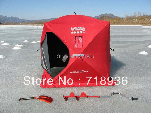 € 542 4 |EMS Free Shipping Eskimo Ice Fishing Tent for 2 persons JW1523 Pop  Up Portable Ice Fishing Shelter en Tiendas de campaña de Deportes y