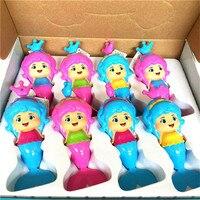 Doub K 8Pcs Baby Toys Cute Mermaid Clockwork Dabbling New Bath Toy Classic Swimming Wound Up