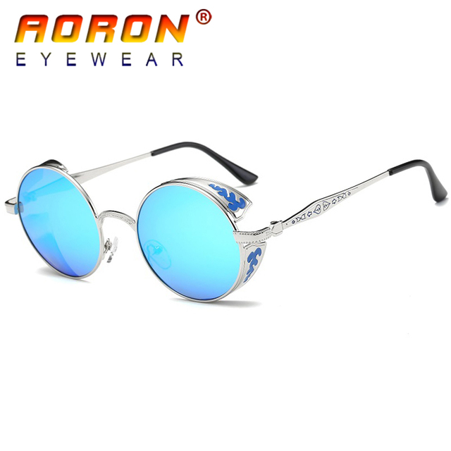 1974883ffe AORON Brand Gothic Steampunk Women Polarized Sunglasses Coating Mirrored Sunglasses  Round Sun Glasses Vintage Sol Eyewear. Mouse over to zoom in