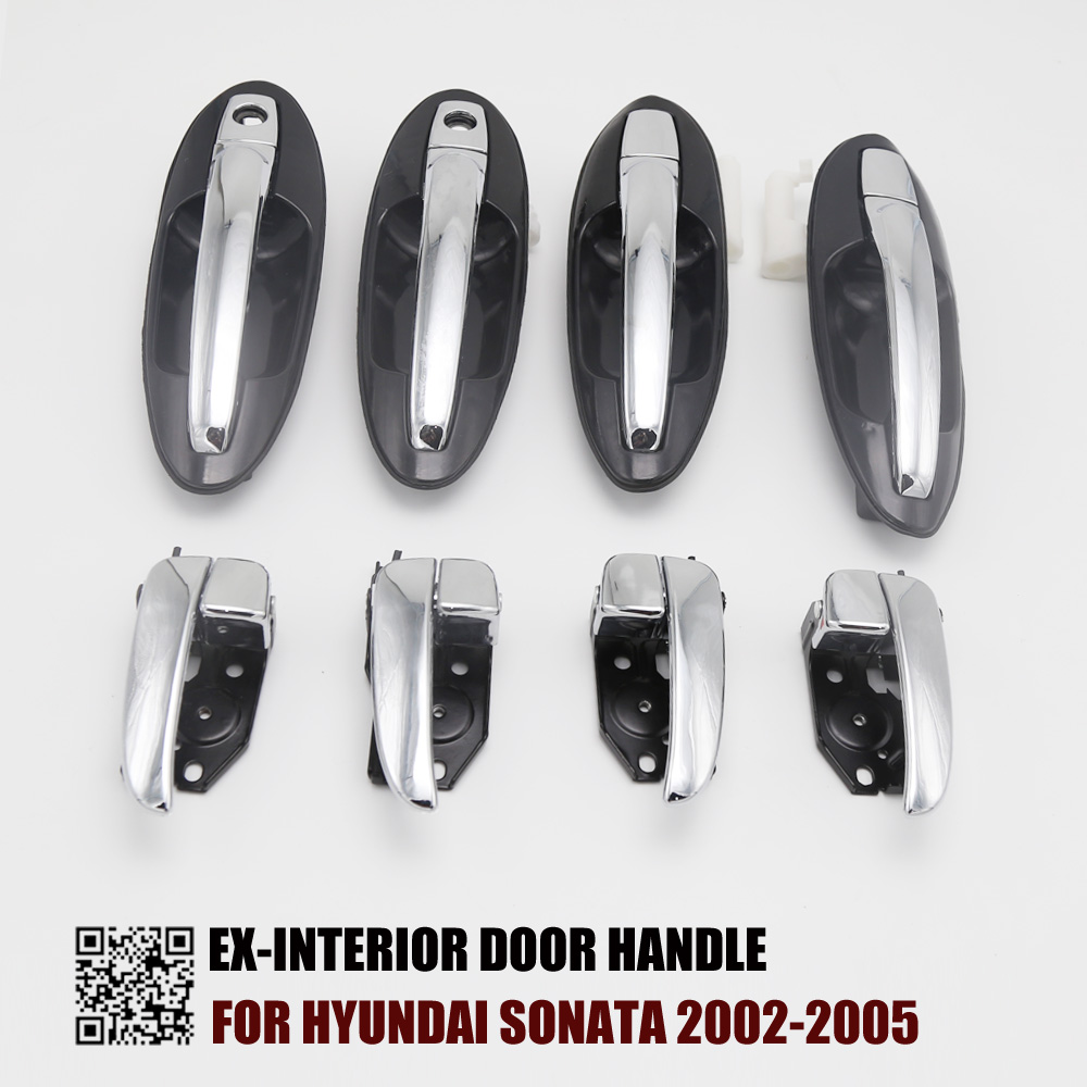 Interior Door Handle for SONATA 02-05 Front OR Rear RH Inside All Chrome Evan-Fischer