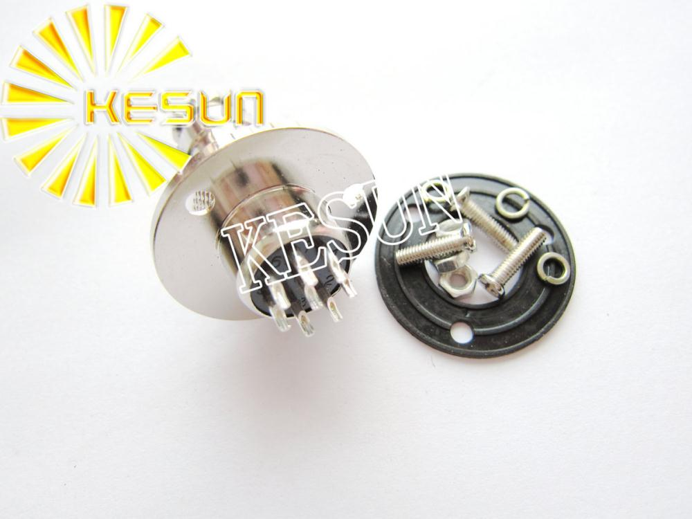 Free Shipping 5pair <font><b>GX16</b></font>-8 <font><b>GX16</b></font> <font><b>8Pin</b></font> With Flange Male & Female 16mm Wire Panel Connector M16 circular connector Socket Plug image