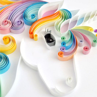 Unicorn Party Rainbow Unicorns Quilling Paper Origami Paper DIY Hand Craft Tool paper 5mm Width Craft DIY Paper Christmas Gift