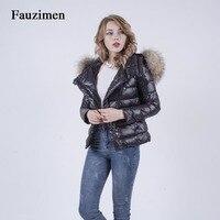 Fenty зима 2018 наличии енота меховым воротником Джинсовая куртка Большие размеры Корейский Люкс Короткие пальто верхняя одежда женская одежда