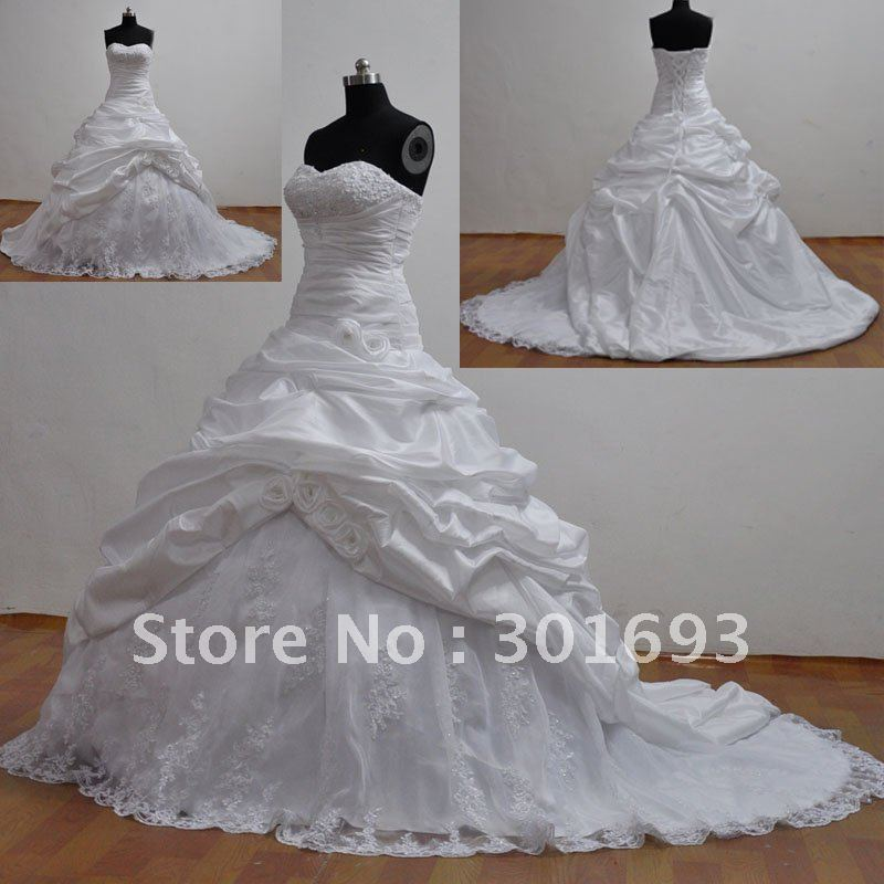 ORW134 2 2016 Real Sample Wedding Dresses Ball Gown Strapless ...