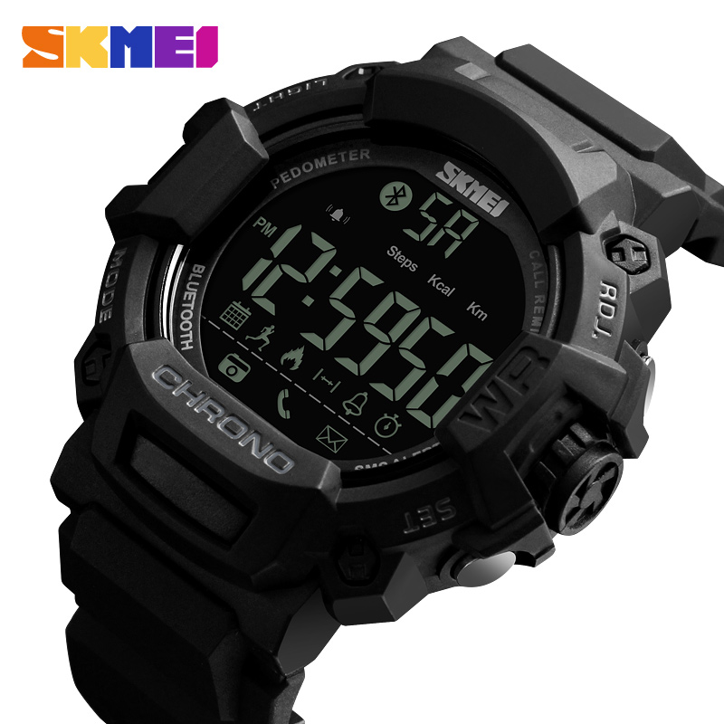 Skmei Sport Smart Fashion horloge Waterdichte Digitale Herenhorloges Outdoor Calorieën Bluetooth Horloges Relogio Masculino XFCS