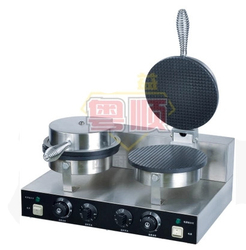 YU-2 Commercial double head  Ice cream Cone Baker machine waffle cone  egg roll making machine 220v 1pc