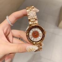 New Arrived Women Brand Full Steel Bracelet Watches Waterproof Roman Number Quartz Wrist watch Multi Faceted Crystal Glass Watch