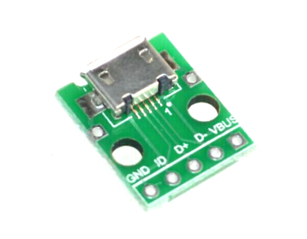 MICRO USB transformed into DIP, female seat B type, patch turn into DIP transfer board welded female seat