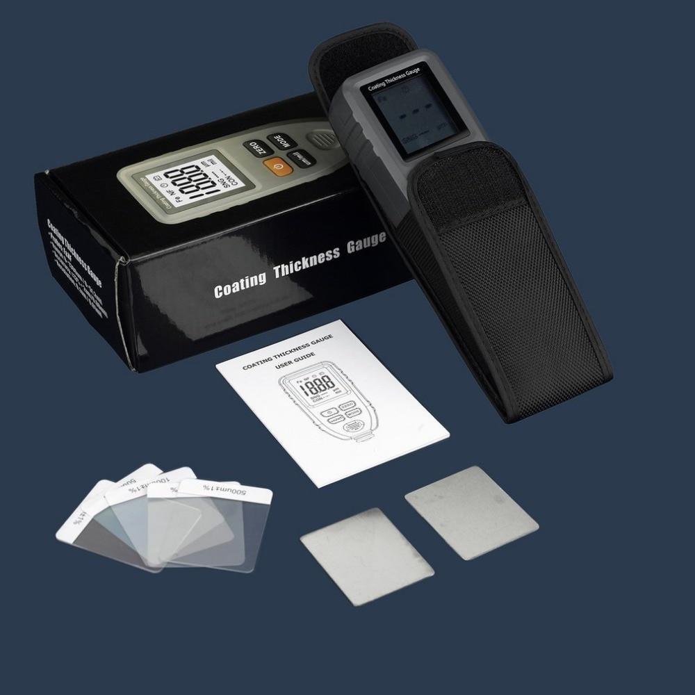 TC100 Digital Thickness Gauge Coating Meter Portable Thickness Meter Thickness Tester Measuring Range 0~1300um Backlight 4 8 days arrival lb92t portable sweetness tester brix meter with measuring range 58 92