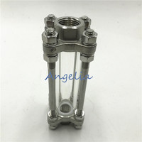 1 1/2 BSP DN40 Female Thread Flow Stainless Steel 304 Sight Glass Water Oil