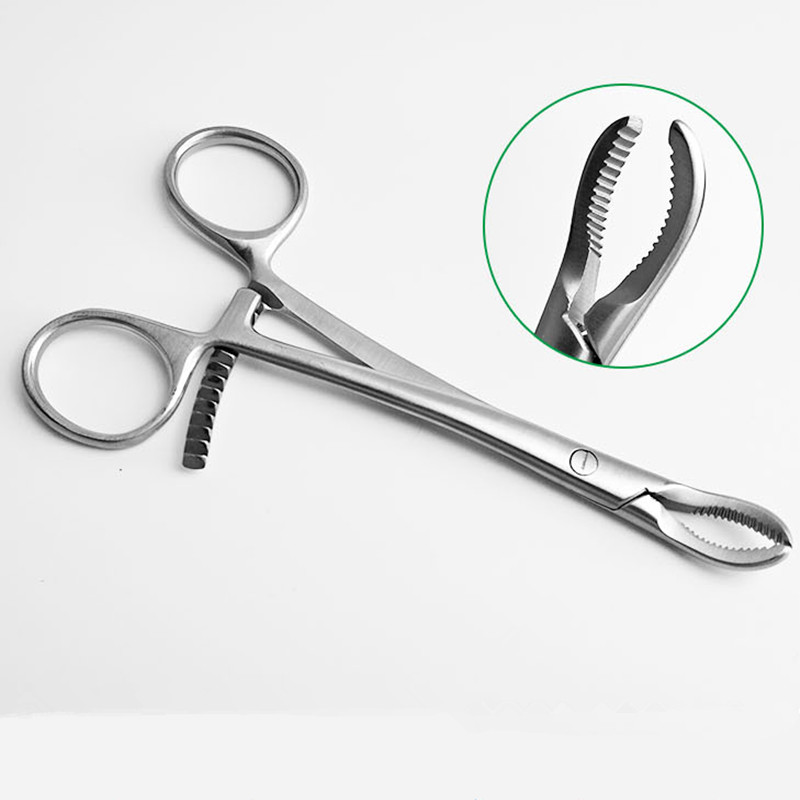 Stainless steel upper Lower extremity Phalanges Toothed Reduction Forceps Veterinary orthopedics Instruments