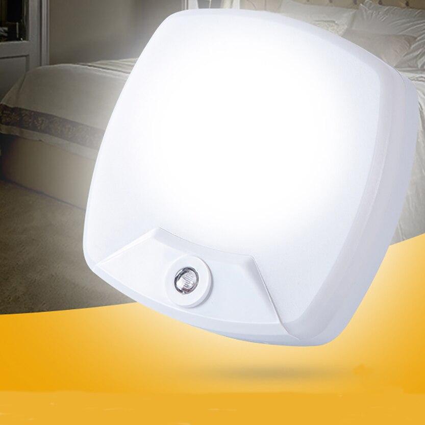 Light Sensor Mini Baby Night Light LED For Kids Children's Nightlight Auto Sensor Night Lamp Bedroom EU/US Plug Socket Wall Lamp