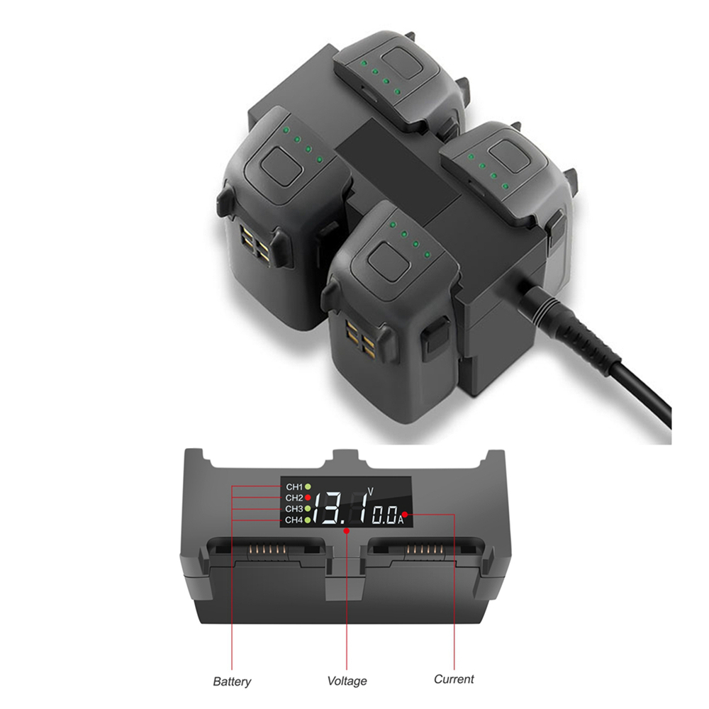 4 in1 Charge Hub AC Chargeur Rapide Pour DJI Spark Drone intelligente Vol Batterie Gestionnaire Intelligent Chargeur US, UK, eu Plug UA