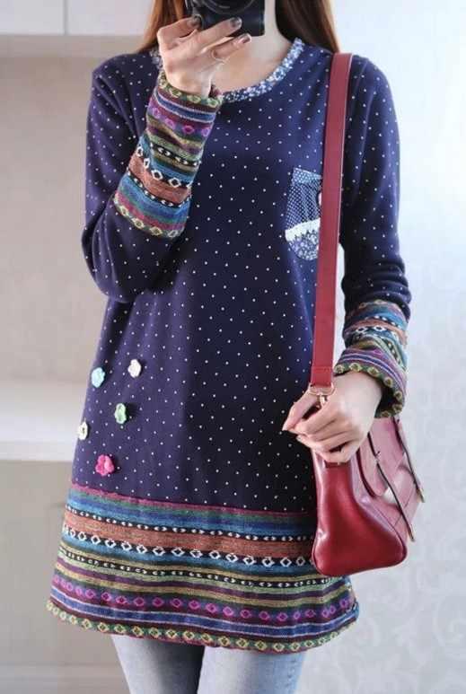 2018, осенне-зимнее кимоно, льняная фланелевая рубашка в радужную полоску, элегантная женская блузка в горошек, топ с вышитыми цветами, блузы