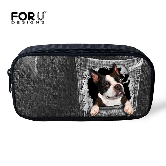 f214816b1eeb US $7.99 20% OFF|FORUDESIGNS Animal Dog Cat Pattern Cosmetic Bag Women  Necessaire Make Up Bag Children Large Capacity Pencil Case Toiletry Kits-in  ...