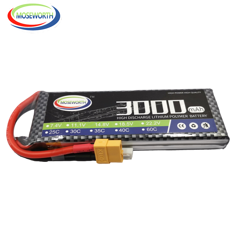 2S RC Toys LiPo Battery <font><b>7.4v</b></font> 3000mAh 25C 2S For RC Airplane Helicopter Car Boat Quadcopter <font><b>Li</b></font>-Polymer batteries AKKU image