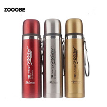 ZOOOBE 1000ML Large Capacity Stainless Steel Thermo Tumbler Vacuum flask Insulated Thermos Coffee Mug Thermal Bottle For Water