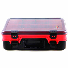 Multifunctional Waterproof Fishing Tackle Storage Plastic Box Double layer Fishing Tool profession Case Accessory 38.5*26.4*12cm