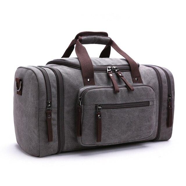 2017 Men's Vintage Travel Bag Large Capacity Canvas Tote Portable Luggage Daily Handbag Bolsa  Free Shipping Wholesale P422