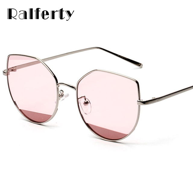 6d90ec220ab0 Ralferty Trendy Transparent Sunglasses Women Big Frame Sun Glasses For Woman  Cat Eye Eyewear UV400 Candy Color Shades X1746
