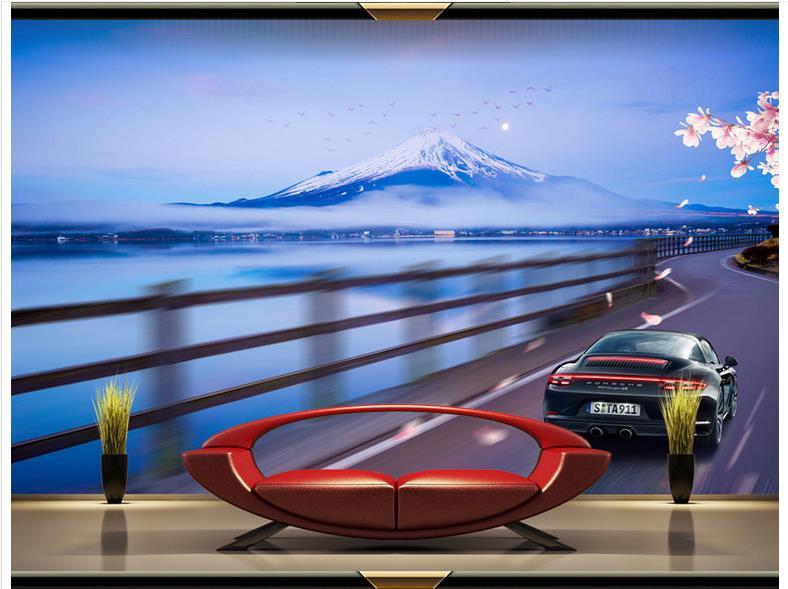 3d обои 3d фрески обои для стен 3 d красивые пейзажи hd роскошный спортивный автомобиль декоративные фоновый рисунок декора стены